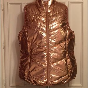 Ladies Lightweight Metallic Packable Vest